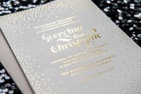 gold foil wedding invitations extraordinary gold foil wedding invitations to design comely