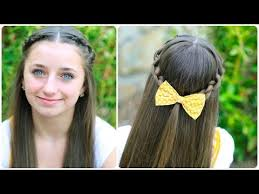 how to create a knotted braid tieback cute hairstyles youtube