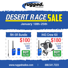 Rugged Radios For Sale Rugged Radios Desert Race Sale January 18 25 Race Dezert