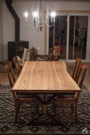 table cuisine bois brut table de cuisine en bois brut et métal la rustique moderne