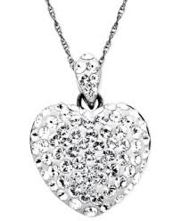 swarovski hearts necklace images Miracle swarovski crystal heart necklace best necklace tif