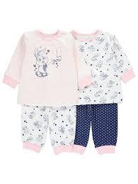looney tunes 2 pack pyjamas baby george