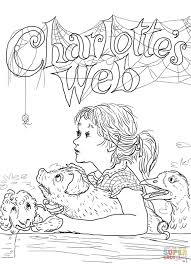 charlotte u0027s web coloring page free printable coloring pages