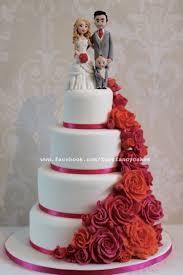 fancy wedding cakes bright pink and orange wedding cake cake by zoe s fancy