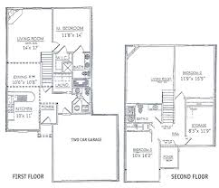 Floor Plan Two Storey by Bedrooms Floor Plans 2 Story Bdrm Basement The Two Three Home