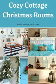 cozy cottage christmas rooms with simple beach decorations a mini christmas tree simple greenery and lights create a festive christmas porch nothing beats a cozy cottage style christmas that includes the beach