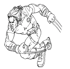 wolverine coloring pages comic book coloring pages