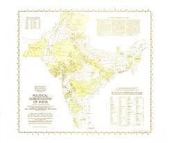 India Political Map Political Subdivisions Of India Map 1946 Maps Com