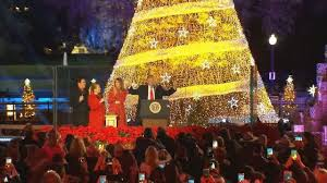 2017 national christmas tree lighting president trump first lady light national christmas tree story wttg