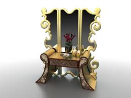 antique french dressing table vanity 3d model 3ds max files free