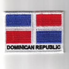 Domenican Flag Republic Embroidered Patches Country Flag Dominican Republic