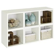 excellent brown shelves decoration with cubical shape brown wicker