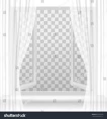 open window curtains on transparent background stock vector