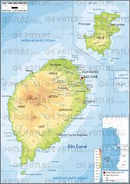 map of sao tome geoatlas countries sao tome and principe map city