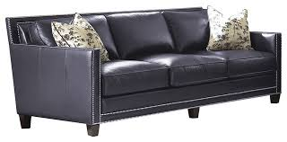Navy Blue Leather Sofa Excellent Navy Blue Leather Sofa Sofas Pertaining To