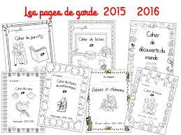 Pages de garde 2015 2016  A la grande école