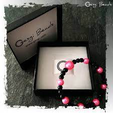 black bracelet pink images Gesgi beads bracelet black pink gbbp5 gesgi store jpg
