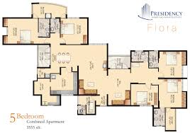 5 bedroom floor plans 2 presidency flora 2 3 5 bedroom flats apartments ranging from