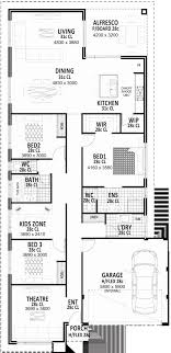 house floor plans perth narrow lot floor plans fresh narrow lot single storey house plans