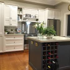 Cupboard Colors Kitchen Painted Kitchen Project Dulux Antique White Usa On Rear Cupboards