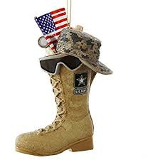 kurt adler u s army boot with u s a flag and icons