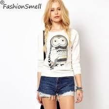 best price on long sleeve blouses owl printed price 21 80