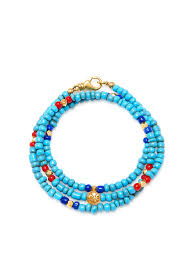 blue glass necklace vintage images The mykonos collection vintage turquoise red and blue glass jpg