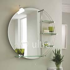 Bathroom Mirror With Shelves Mirror Design Ideas Lighting Adorable Bathroom Mirror With