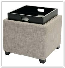 leather tray top ottoman storage ottoman with tray magnificent storage ottoman with tray grey