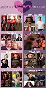 Glee Meme - glee love hate meme by gabberkittie on deviantart