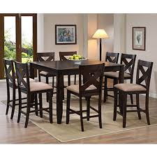 pub table and chairs big lots metro 5 piece pub set 499 99 set dark walnut finish table extends
