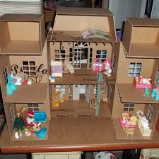doll house made entirely of cardboard part 1 paper crafts