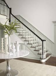 Black Banister Black And White Dragon Jar White Dragon Staircases And Vignettes