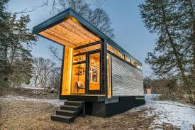 tiny house studio new tiny house also serves as writing studio and library curbed