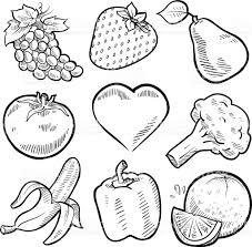 fruit and vegetables sketches set stock vector art 156937581 istock