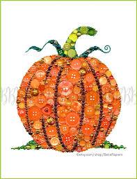 Pinterest Harvest Decorations Button Art Print Pumpkin Thanksgiving Decoration Harvest Autumn