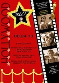 hollywood ticket invitations red carpet party print your own