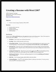 Size Font For Resume 100 Resume Templates In Word 2007 Image 54 Of 100 Resume Format