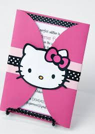 hello kitty birthday party invitation card sample with hello kitty