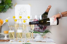 how to setup a holiday bubbly bar camille styles