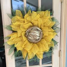 burlap sunflower wreath summer wreaths how to make a sunflower wreath