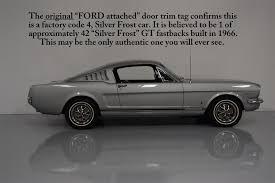 Black Fastback Mustang 1966 Mustang Gt Fastback Myrod Com Rare Factory Silver Frost Gt