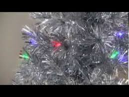 silver clover medium fiber optic pre lit tree 5 ft