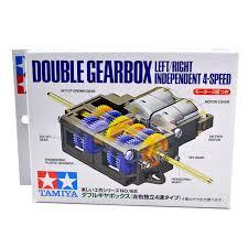 tamiya 4 speed double gear box left right independent robotshop