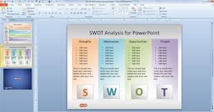 swot analysis ppt template free download cpanj info