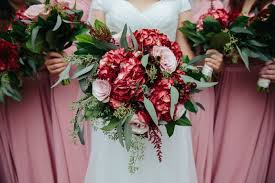 wedding flowers greenery salal wedding bouquet greenery