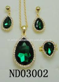 green stone necklace set images Latest top design jodha akbar jewelry set big green stone mico jpg