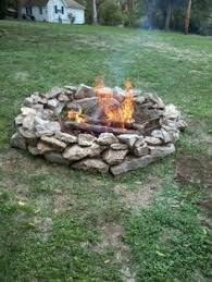 Fire Pit Rocks by In Ground Fire Pit Ring And Rock Simple Yard Pinterest