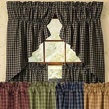 plaid country curtains drapes u0026 valances ebay