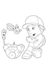handy manny coloring picture coloring birthdays